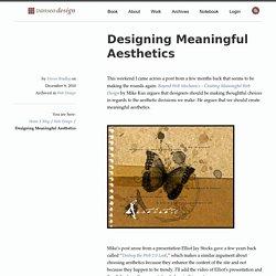 Designing Meaningful Aesthetics - Vanseo Design