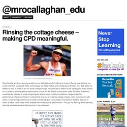 Making CPD meaningful