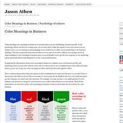 Color Meanings in Business / Psychology of colours