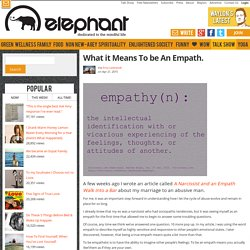 What it Means To be An Empath.