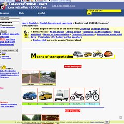 Means of transportation-English
