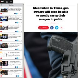 Meanwhile in Texas, gun owners will soon be able to openly carry their weapon in public