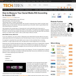 How to Measure Your Social Media ROI According to Access 360