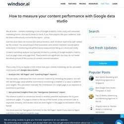 measure your content performance with Google data studio