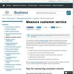 Measure customer service