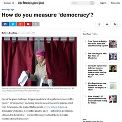 How do you measure 'democracy'?