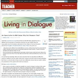 An Open Letter to Bill Gates: Why Not Measure This? - Living in Dialogue