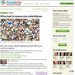 14 free tools to measure your social influence