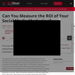Can You Measure the ROI of Your Social Media Marketing?