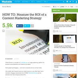 HOW TO: Measure the ROI of a Content Marketing Strategy