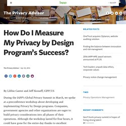 How Do I Measure My Privacy by Design Program's Success?