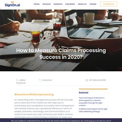 How to Measure Claim Processing Success in 2020