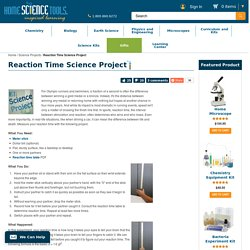 Measure Reaction Time Science Experiment