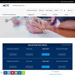 The ACT Test - Measure High School Student Readiness for College