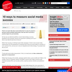 10 ways to measure social media success | Blog