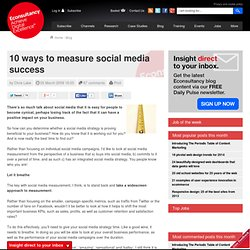 10 ways to measure social media success