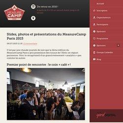 Slides, photos et présentations du MeasureCamp Paris 2015