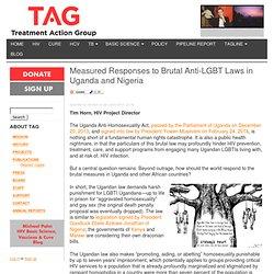 Measured Responses to Brutal Anti-LGBT Laws in Uganda and Nigeria