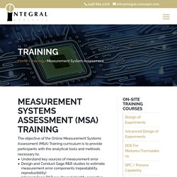 Measurement Systems Assessment Training