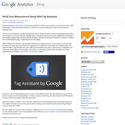 Verify Your Measurement Setup With Tag Assistant