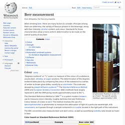 Beer measurement