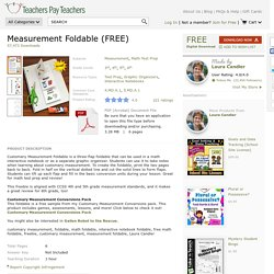 Measurement-Foldable-FREE-533693 Teaching Resources