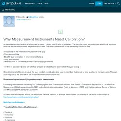 Why Measurement Instruments Need Calibration?: tridinamika