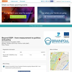 Beyond GDP - from measurement to politics and policy Tickets, Paris