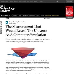 The Measurement That Would Reveal The Universe As A Computer Simulation