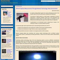 Efficient Optical Measurement Through Robotic Technology: Robo-Goniometer