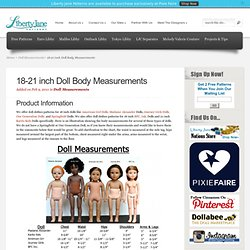 18-21 inch Doll Body Measurements