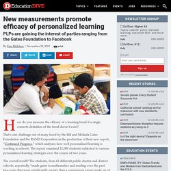 New measurements promote efficacy of personalized learning