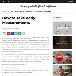 How to Take Body Measurements & Vital Statistics for Weight Loss