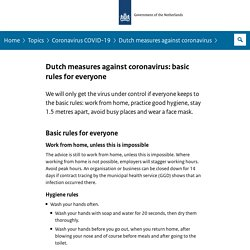 Dutch measures against coronavirus: basic rules for everyone