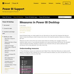 Measures in Power BI Desktop