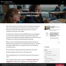 Measures of Effective Teaching (MET) Project - K-12 Education