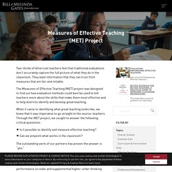 Measures of Effective Teaching (MET) Project