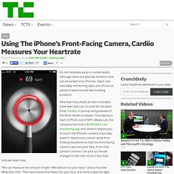 Using The iPhone's Front-Facing Camera, Cardiio Measures Your Heartrate