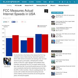 FCC Measures Actual Internet Speeds in USA