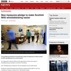 New measures pledge to make Scottish NHS whistleblowing easier