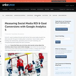 Measure ROI with Google Analytics