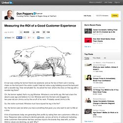 Measuring the ROI of a Good Customer Experience