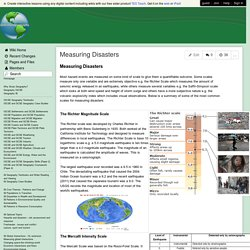 Measuring Disasters - Greenfieldgeography - Wikispaces