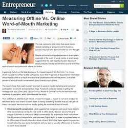 Measuring Offline Vs. Online Word-of-Mouth Marketing
