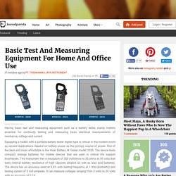 Basic Test And Measuring Equipment For Home And Office Use