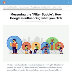 Measuring the Filter Bubble: How Google is influencing what you click