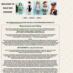 Measuring & Fitting Doll Clothes Patterns
