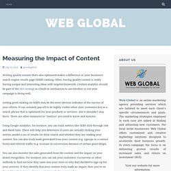 Measuring the Impact of Content