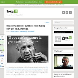 Measuring curation: Introducing New Scoop.it Analytics