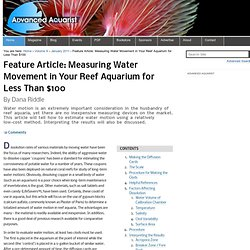 Feature Article: Measuring Water Movement in Your Reef Aquarium for Less Than $100 — Advanced Aquarist's Online Magazine